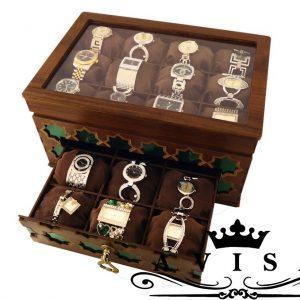 جعبه ساعت کشودار 21خانه سنتی