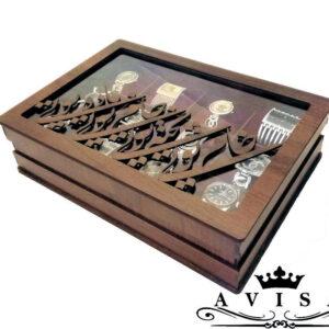 جعبه ساعت چندتایی چوبی
